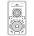 Concert outline speaker vector