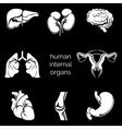 Internal human organs silhouettes vector