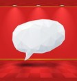 White geometric speech bubble in the room vector