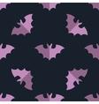 Seamless bat background tile halloween pattern vector