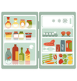 Open fridge vector