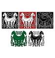 Celtic horses vector