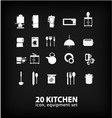Kitchen equipment set vector