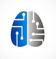 Brain technology abstract logo vector