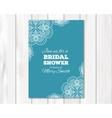 Bridal shower or wedding invitation card template vector