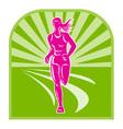 Marathon road runner vector