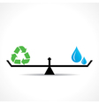 Save nature concept recycle symbol and water vector