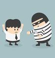Robbing a businessman vector