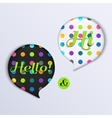 Colorful speech bubbles with text vector