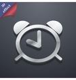 Alarm clock icon symbol 3d style trendy modern vector