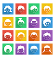 Bright kids icons vector