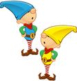 Elf mascot hands on hips vector
