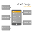 Tablet flat design vector