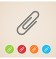 Paper clip icons vector
