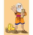 Moses and precept stones vector