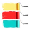 Roller brushes vector
