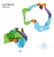 Abstract color map of australia vector
