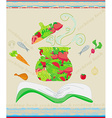 Cooking book cover vector