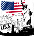 Greetings from usa vector
