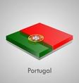 European flags set - portugal vector