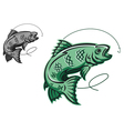 Jumping fish vector