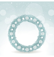 Christmas wreath background with white decorations vector