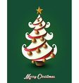 Merry christmas pine tree greting card eps10 file vector