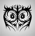 Owl face tribal vector
