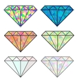 Set of colorful shiny jewels vector