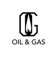 Oil and gas monogram vector
