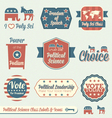 Political science class labels and icons vector