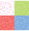 Female and male underwear doodle seamless patterns vector