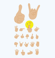 Finger gesture set vector