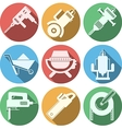 Flat icons for construction equipment vector