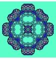 Trippy flower acid art oriental mandala over vector