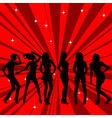 Beautiful and sexy girl silhouettes dancing vector