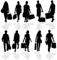 Women and men travelers vector