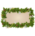 Fir frame with decorations vector