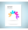 Report concept of friendship - fourth friends vector