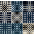 Set of 9 seamless geometric patterns vector