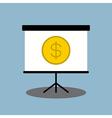 Money presentation on board vector