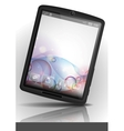 Tablet pc with bubble background vector