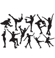Figure skating silhouette vector