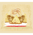 Vintage background with pyramids giza vector