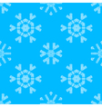 Various white crochet snowflakes on blue vector
