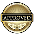Approved gold label vector