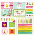Birthday party invitation set - for birthday baby vector