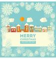 Christmas little town vector