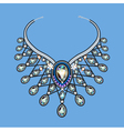 A womans necklace of beads vector