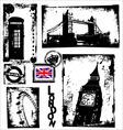 London in grunge background vector